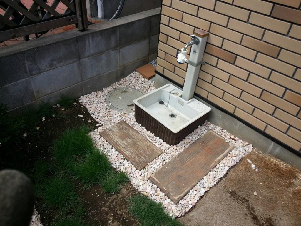 立水栓の施工前