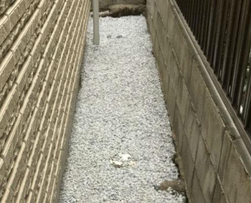 砂利敷き(6号砕石)