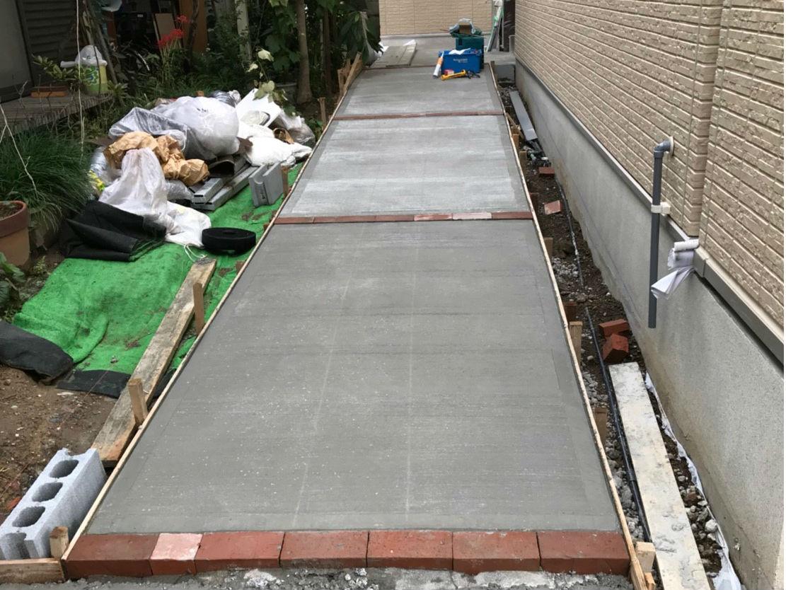 土間コンクリートの打設完了