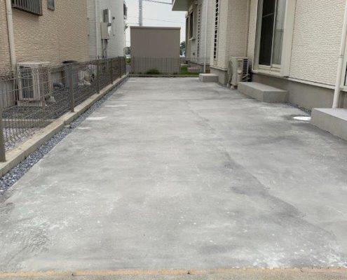 土間コンクリートの施工後