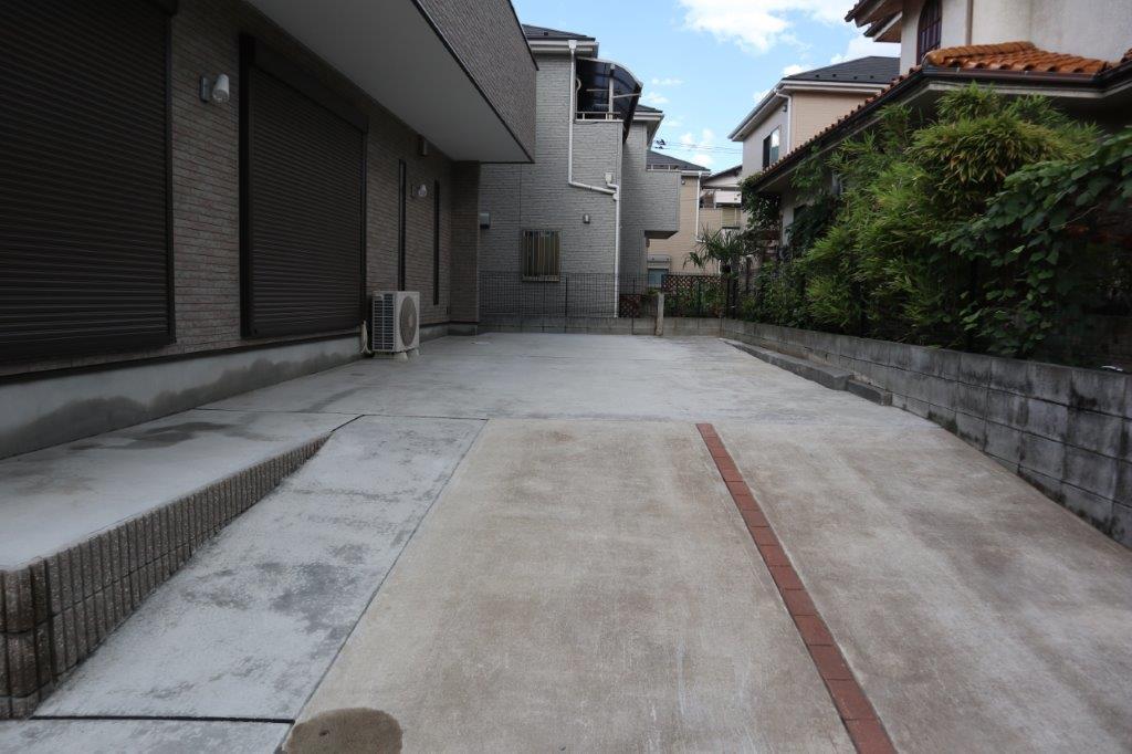 土間コンクリート施工後