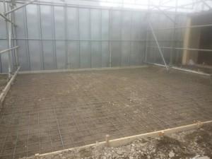 駐車場のコンクリート舗装(土間の下地造作)